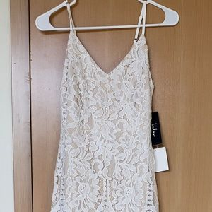 Lulu's Flynn White Lace Maxi Dress, Size 4, New